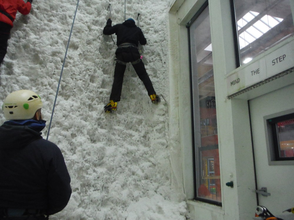 Getting to grips with the ice Icefactor an indoor ice climbing wall in Kinlochleven