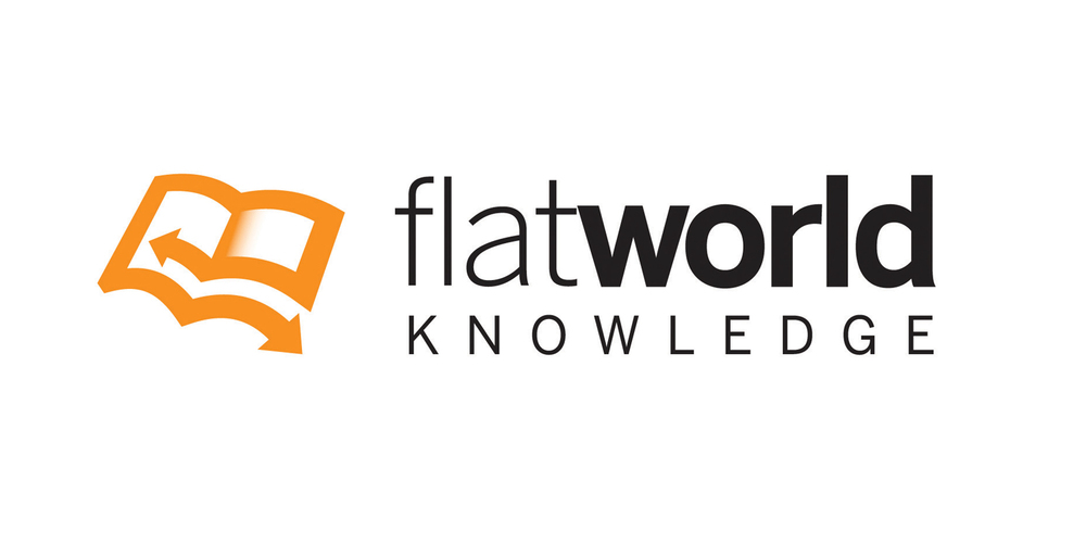 Open source content and competency-based learning for higher ed.   Visit FlatWorld Knowledge.
