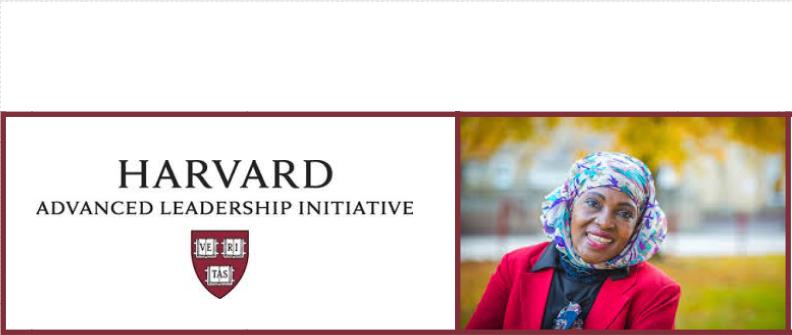 Rehmah Kasule selected as a Harvard Advanced Leadership Initiative Fellow