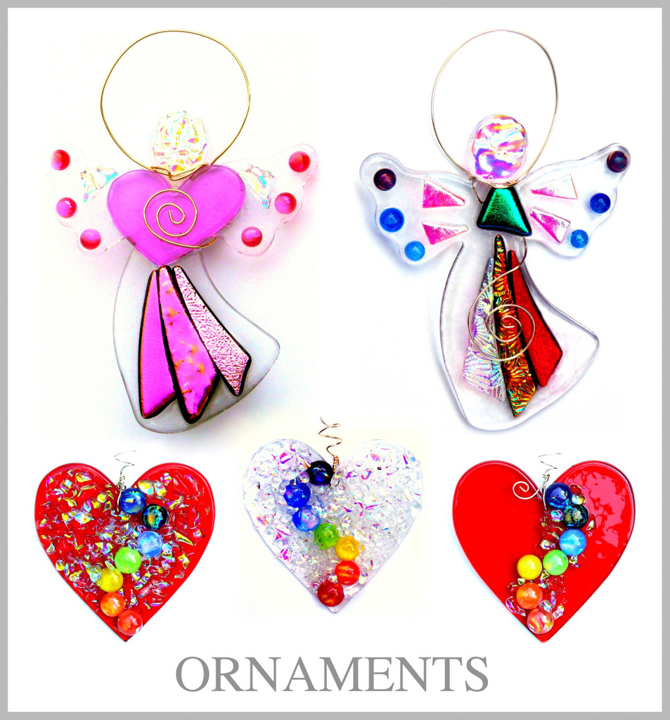 ADD SPARKLE TO ANY SEASON WITH FUSED GLASS ORNAMENTS BY SUZ! GLASS DESIGNS.