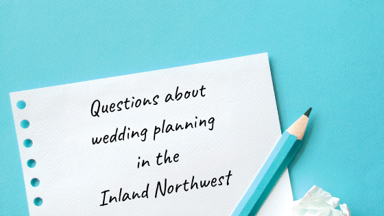 Questions about wedding planning