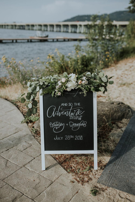 Custom wedding signage