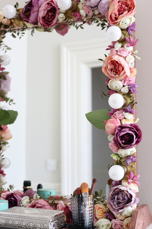 Floral Make Up Mirror Wedhead Furniture Hire