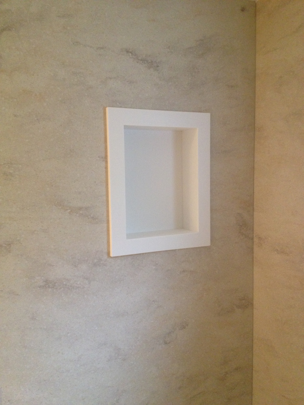 Custom Corian Shower Wall Surround, Shower Seat, And Thresholds   Before