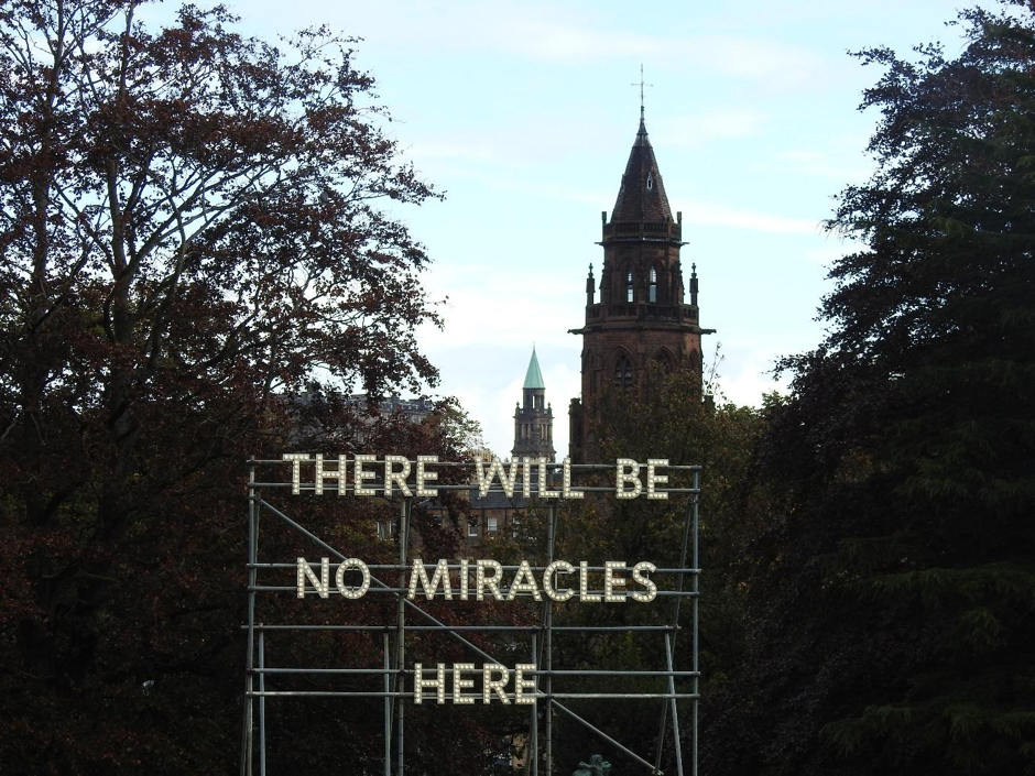 'There will be no miracles here' by British Artist Nathan Coley, Gallery of Modern Art, Edinburgh.