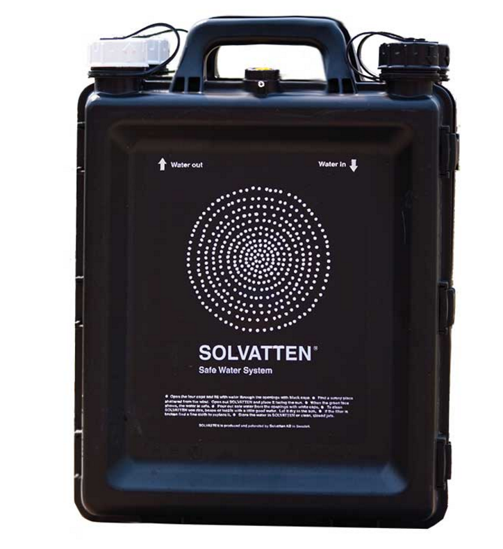 The portable device can hold up to 10 litres of water