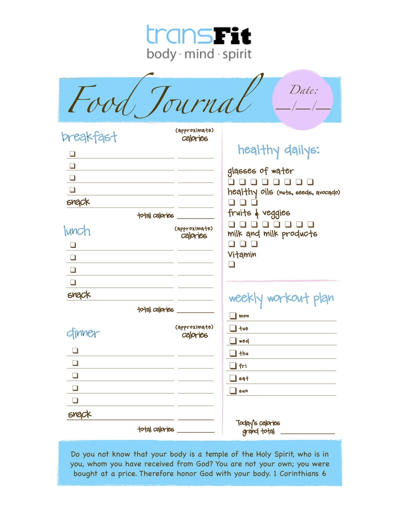 Finishing The Food Journal Challenge Strong Transfit