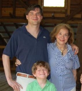 Mary Hardman, son, & grandson  Push up Challenge Winner