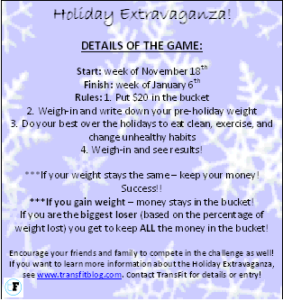 Holiday Extravaganza Details 2013