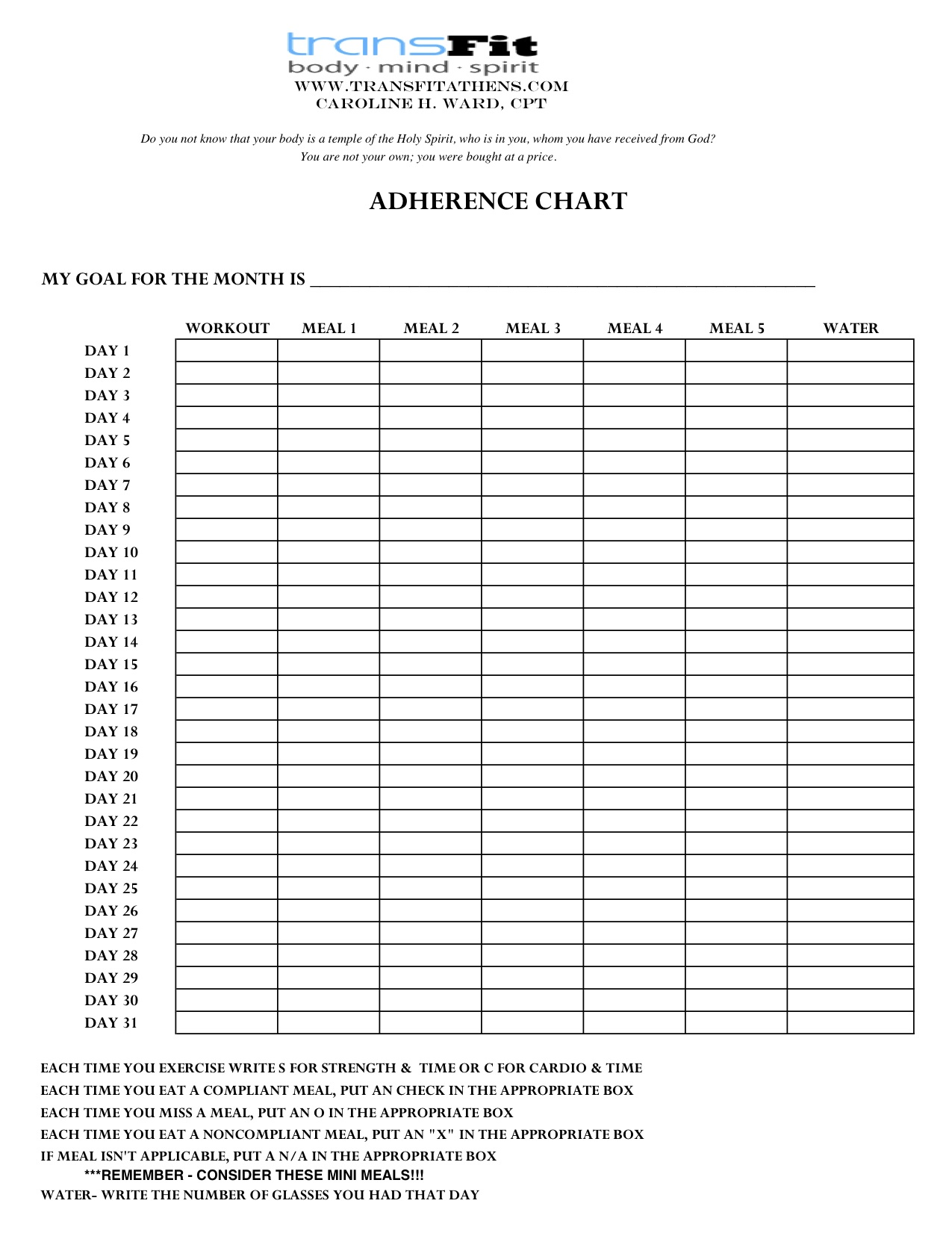 ADHERENCE CHART FOR MARCH 2014