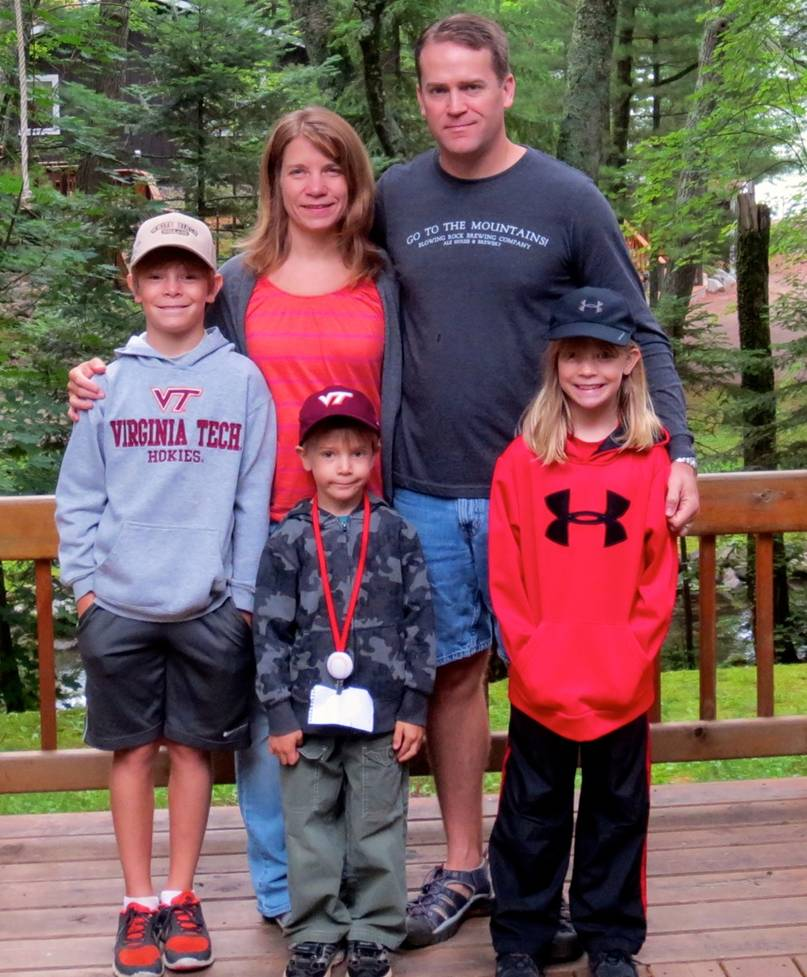 Laura Moore and her Family