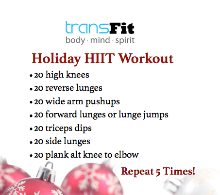 Updated Holiday HIIT Workout