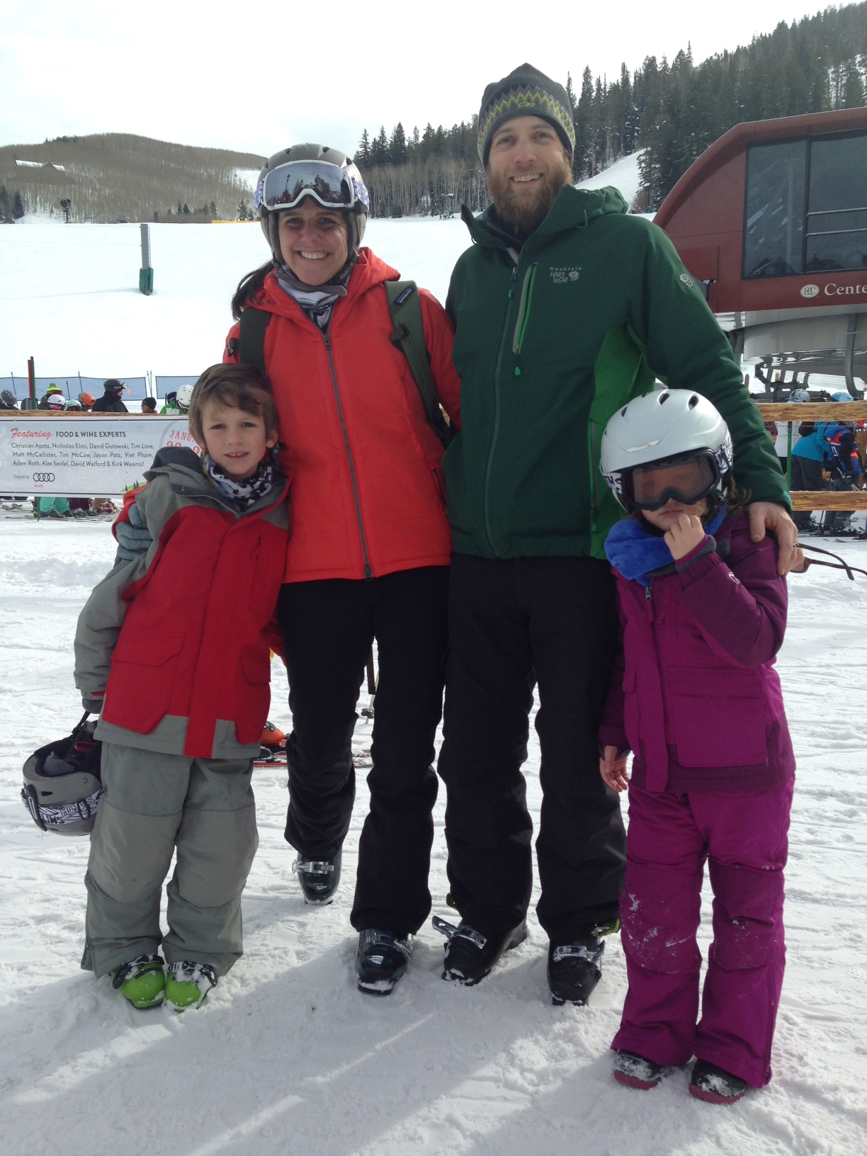 Sarah Bennett Skiing with Her Family