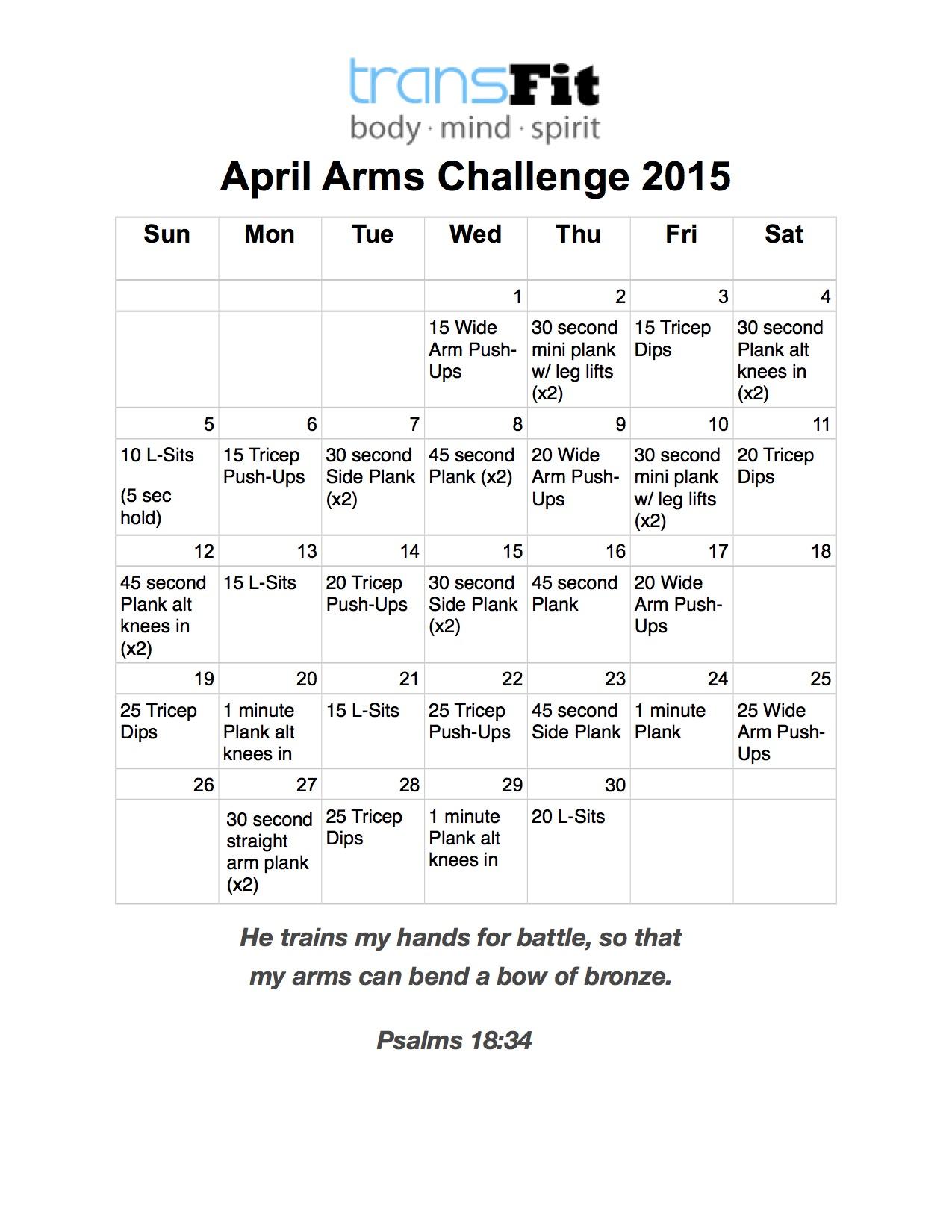 April Arms Challenge