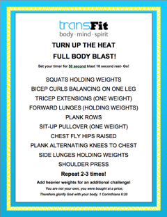 Turn Up The Heat Workout!