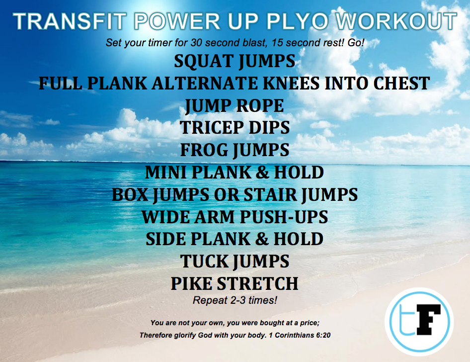 FINISHED PLYO WORKOUT TRANSFIT