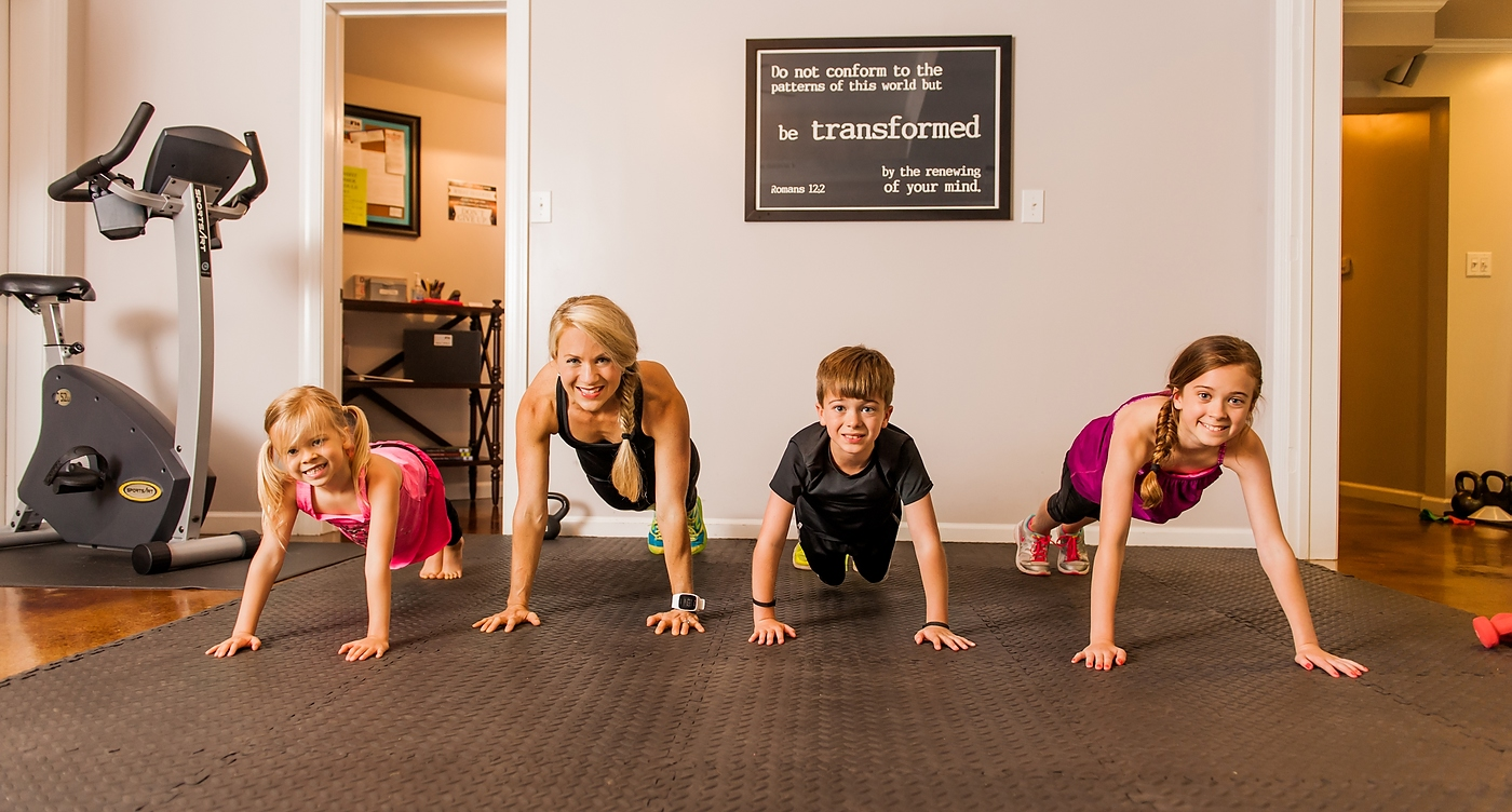 The kids and I trying our hand at the push-up challenge!