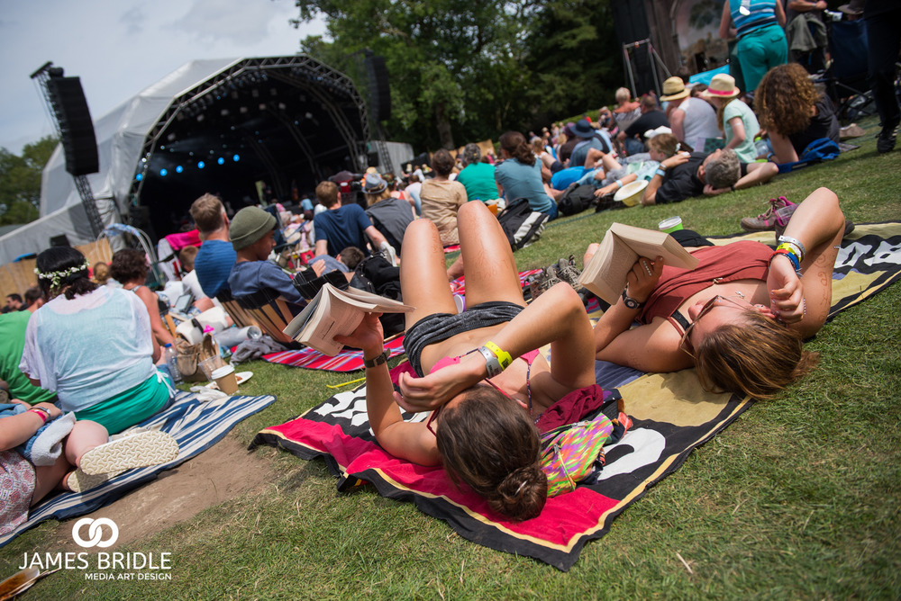 The Garden stage is a sun trap for those watching.
