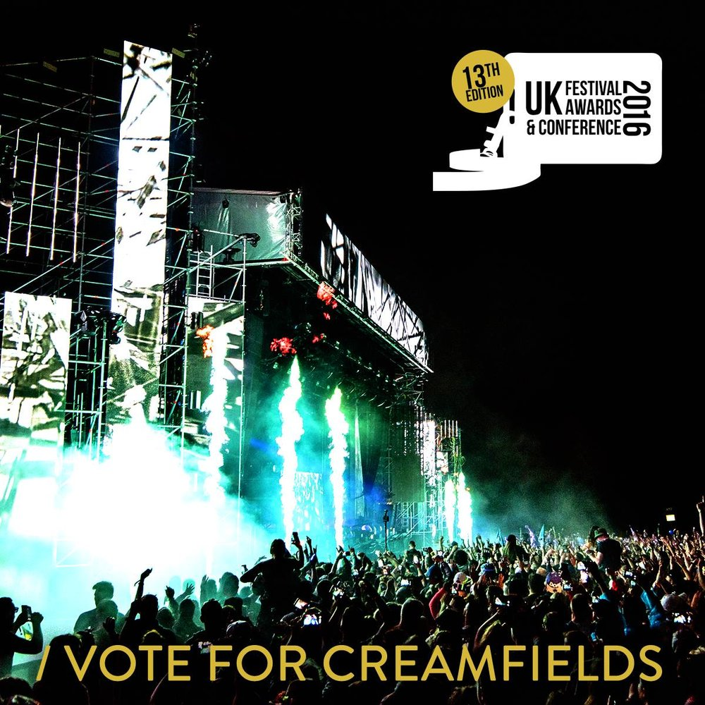 Creamfields, Festival Awards Promotion 2016