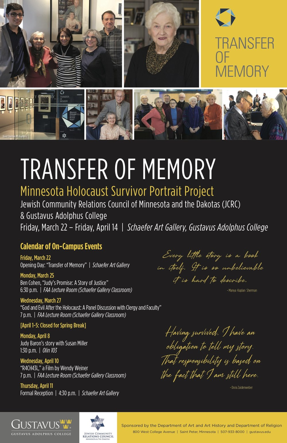"""""""Transfer of Memory"""" Events Poster"""