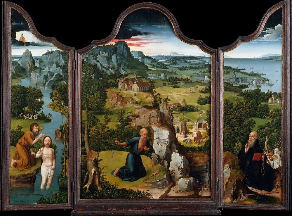 """The Penitence of Saint Jerome"" (1512-15), Joachim Patinir (Metropolitan Museum of Art)"