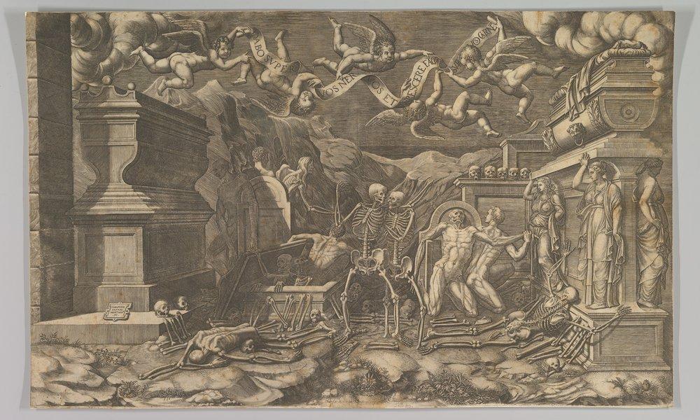 """The Vision of Ezekiel"" (1554), Giorgio Ghisi (Metropolitan Museum of Art)"
