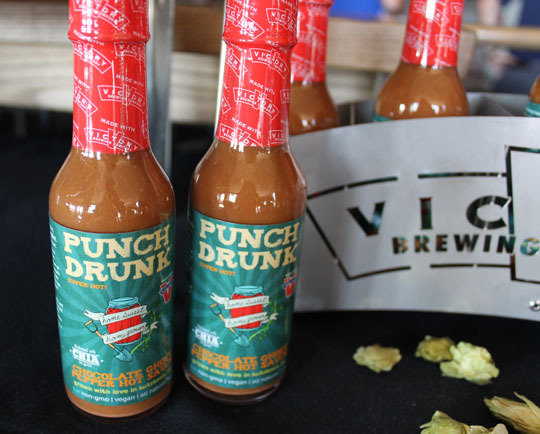 Homesweet Homegrown uses Victory's Storm King Stout to make a ghost pepper hot sauce called Punch Drunk.