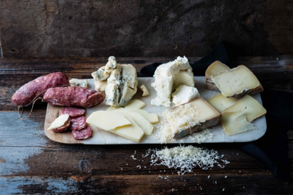 An Italian cheese plate from DiBruno Bros