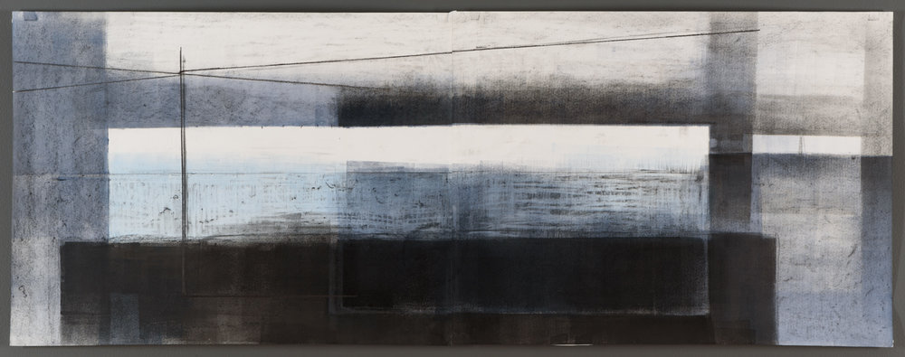 "Array - 19"" x 48"" - acrylic and graphite on paper"