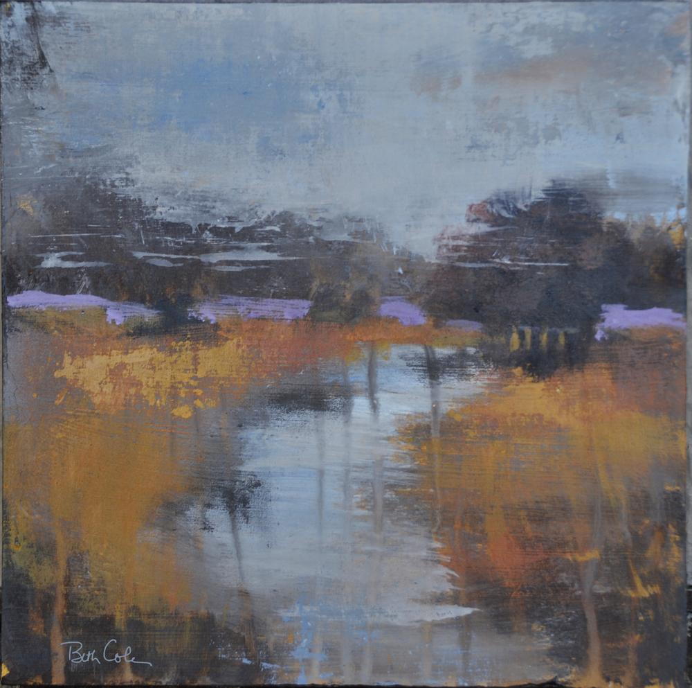 SOLD Rain and Fog - Open Acrylic on Wood - 8 x 8