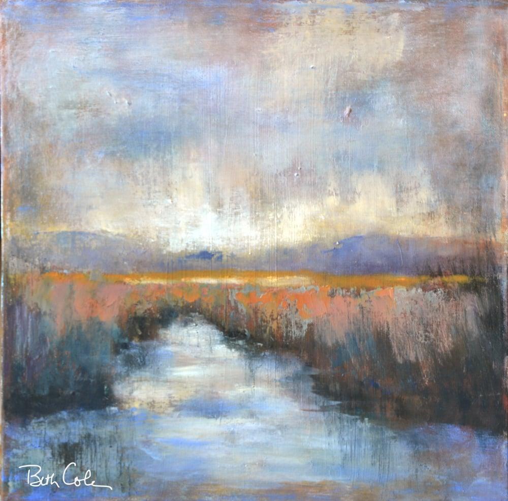 Veiled - 18 x 18 - Acrylic on Canvas