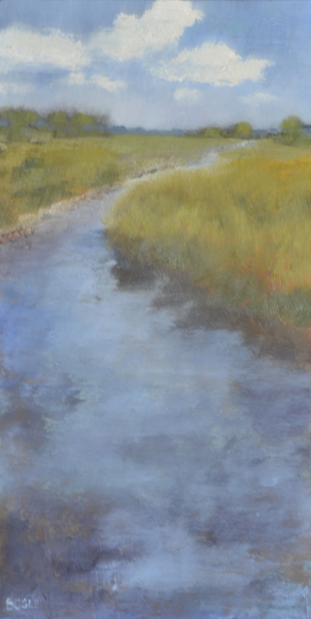 SOLD - Deep Water - Oil on Canvas - 12 x 24