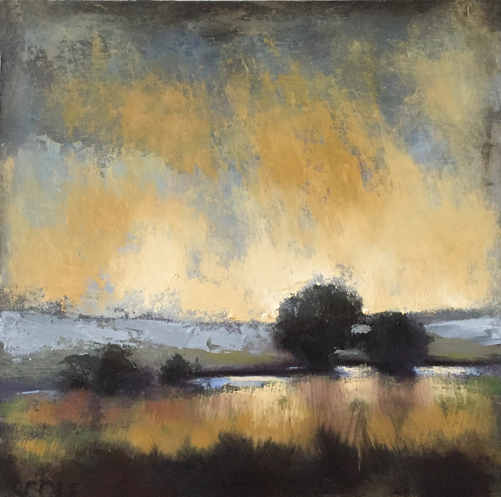 SOLD - Spring Storm - Open Acrylic on Wood Panel
