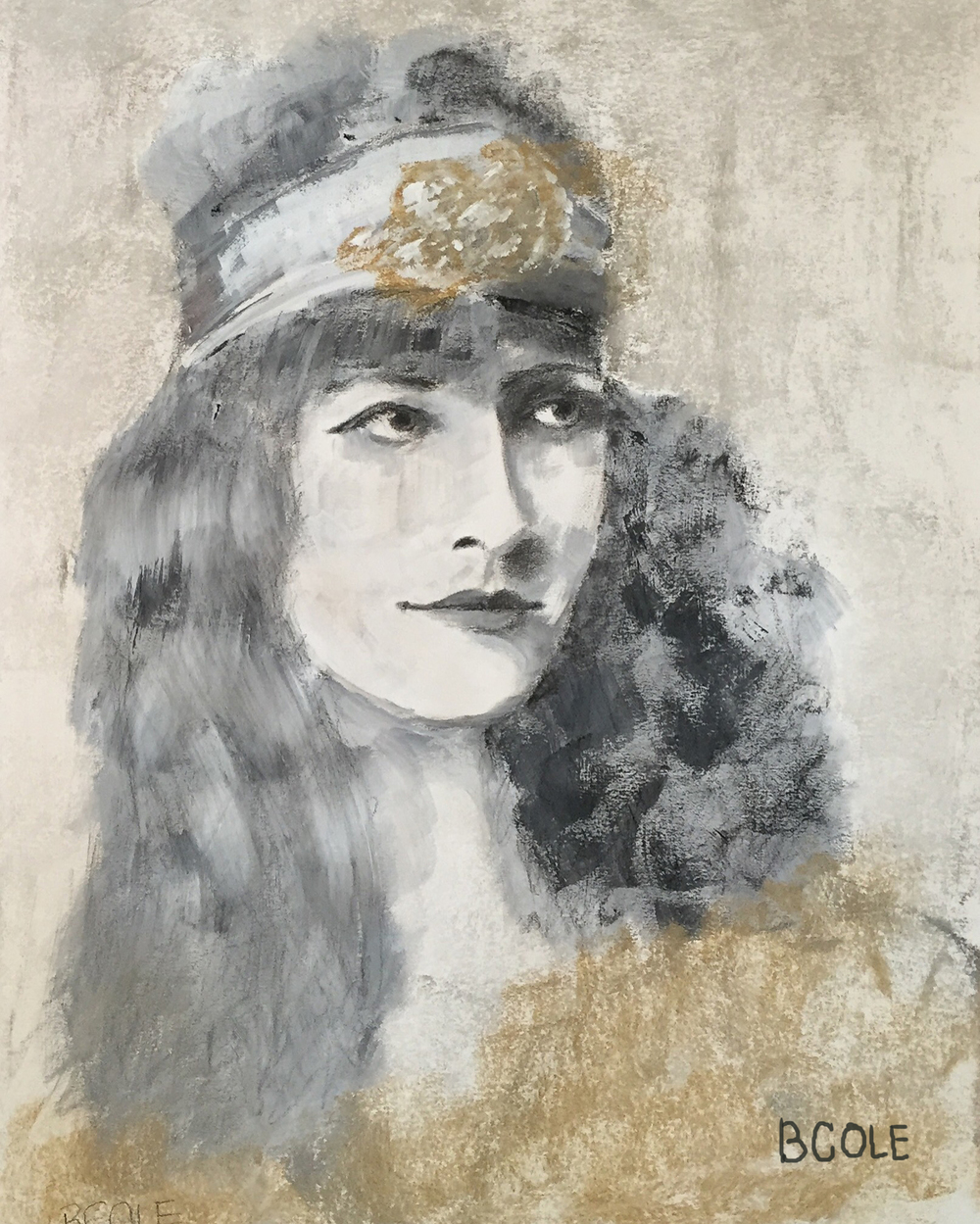 Vintage Glam - Charcoal, Gesso - © Beth Cole