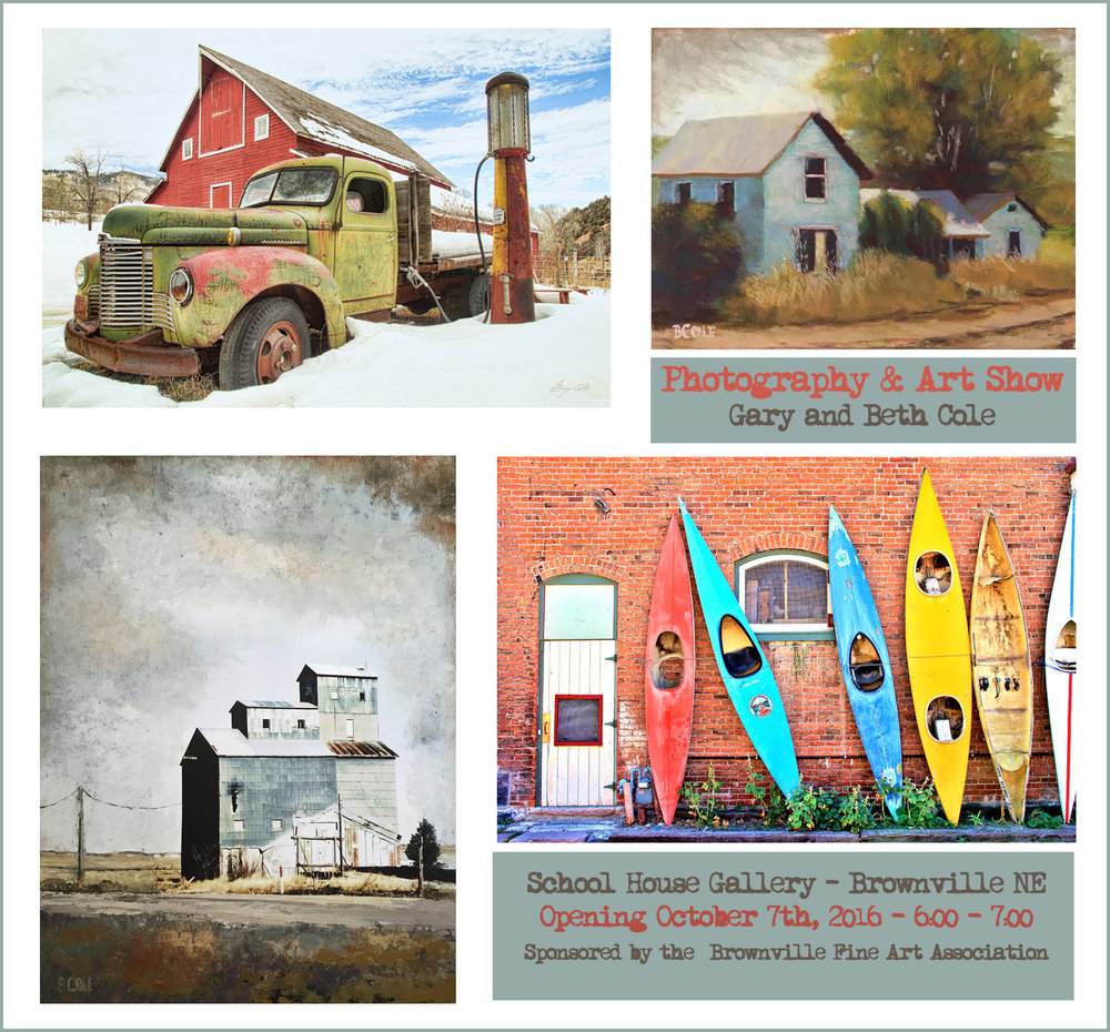 Gary and Beth Cole Art Show in Brownville NE, October 7th, 2016