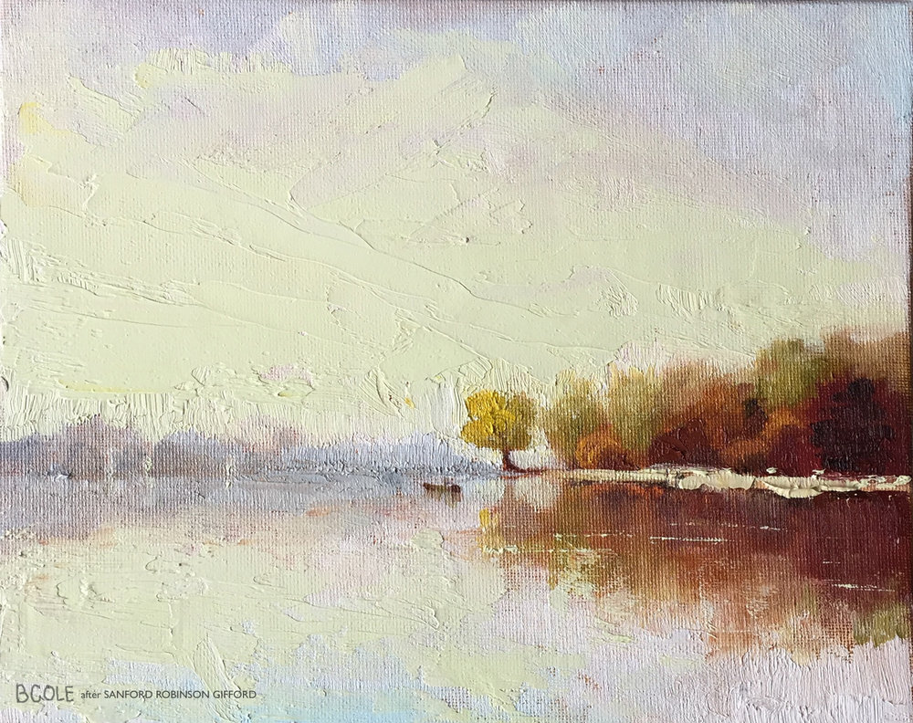 Beth Cole after Sanford Robinson Gifford's Indian Summer Day on the Hudson