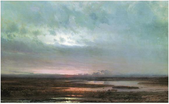 Sundown Over A Marsh by Alexei Savrasov