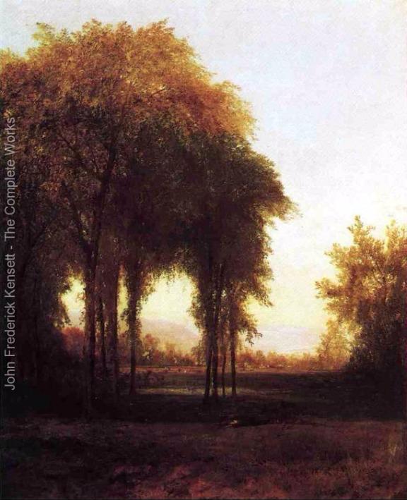 Farm At The Edge of the Forest - John Frederick Kensett