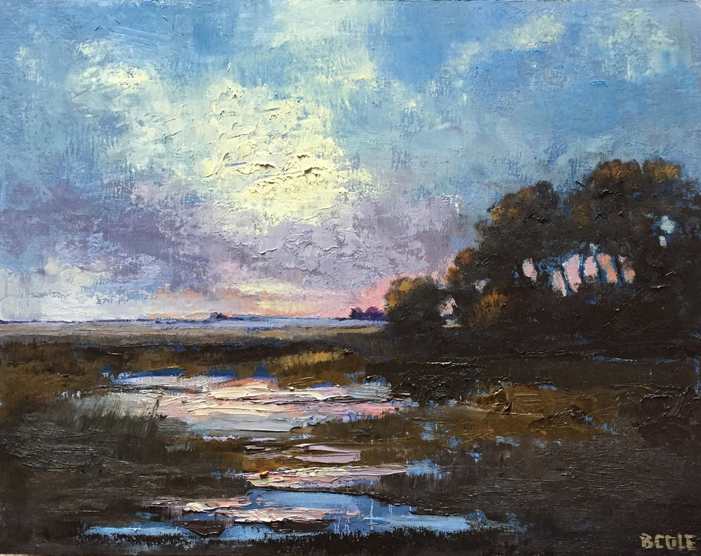 Prairie Marsh, 11 x 14, Oil on Wood Panel © Beth Cole