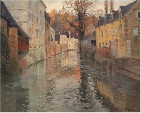 Nordfransk Elveparti by Frits Thaulow