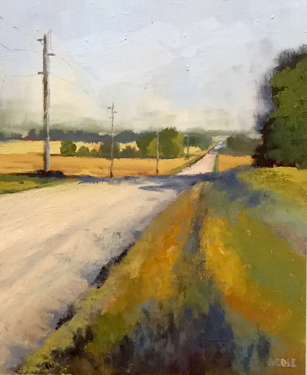 Walking Road North - Oil - 8 x 10
