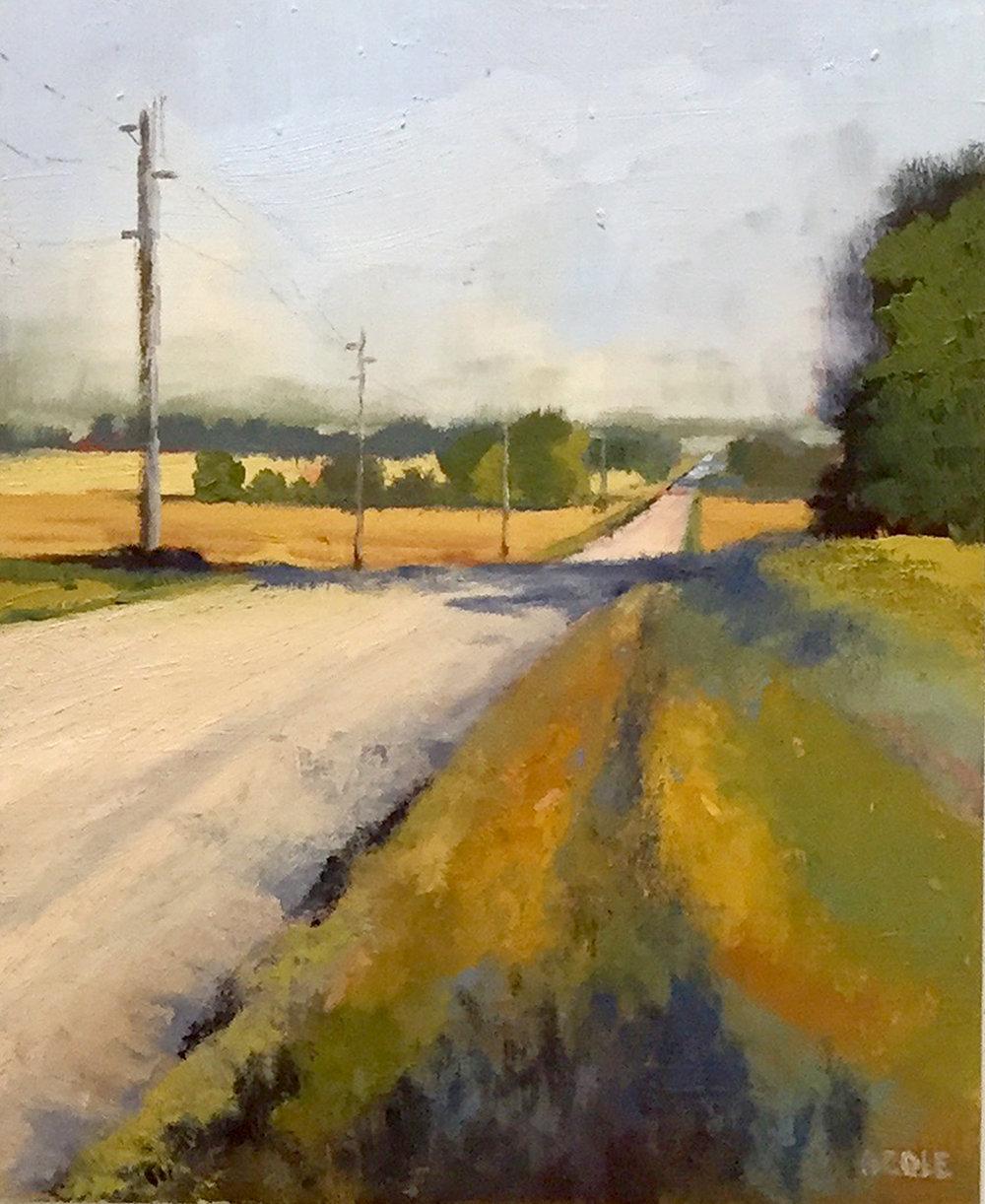 Walking Road North - Oil - 8 x 10