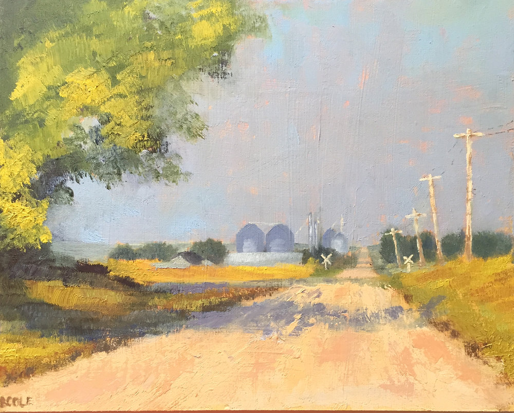 SOLD - North of Town - Oil - 8 x 10