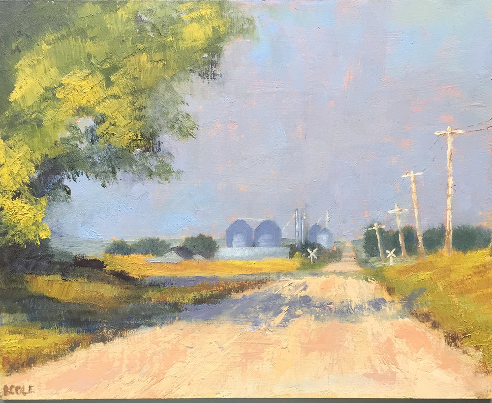 North of Town, Oil on Panel, 8 x 10 © Beth Cole