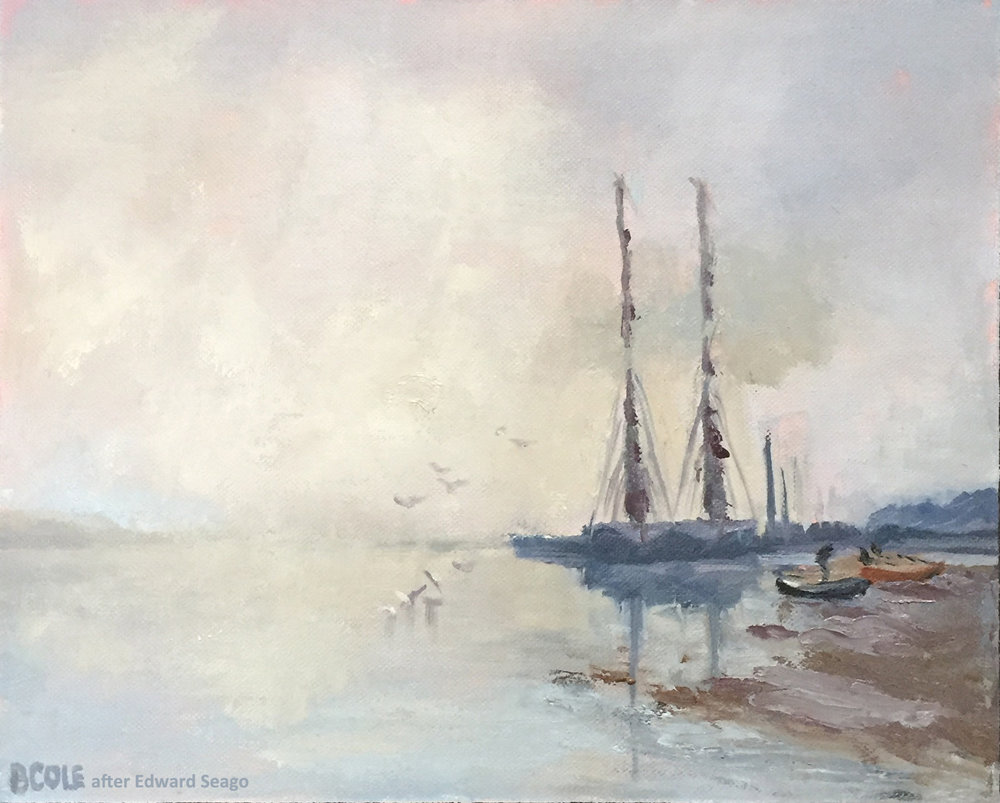 Boats on the Orwell, ©Beth Cole after Edward Seago