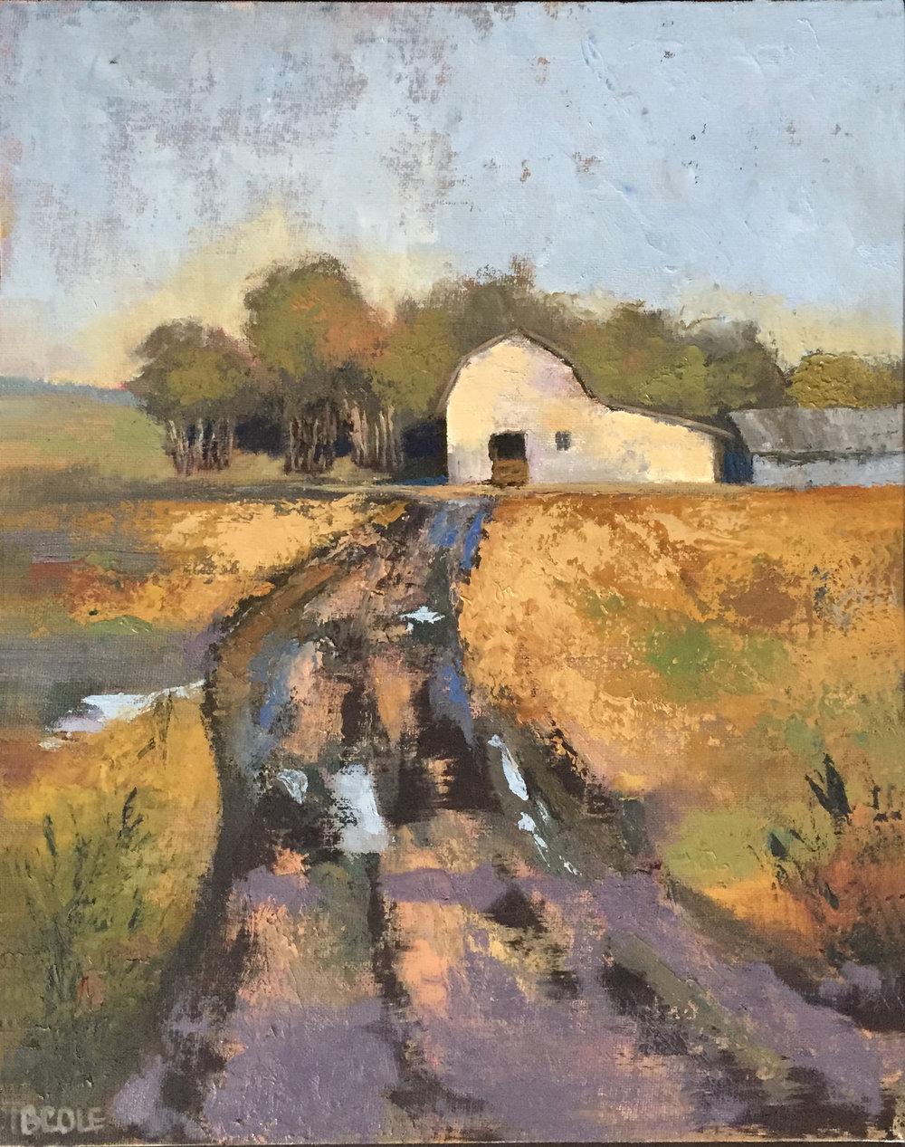 Rainy Place - Oil on Canvas - 11 x 14