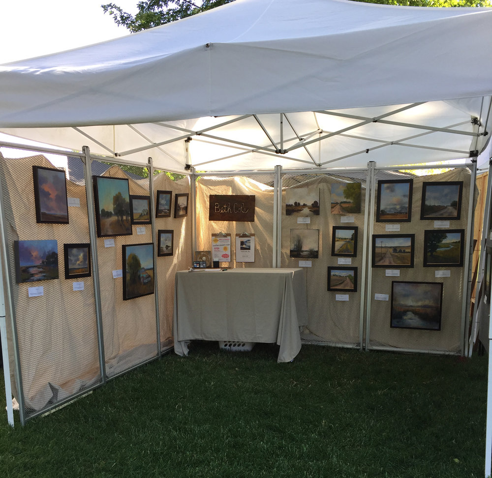 Beth Cole | Booth Setup - Art in the Park - Kearney Nebraska