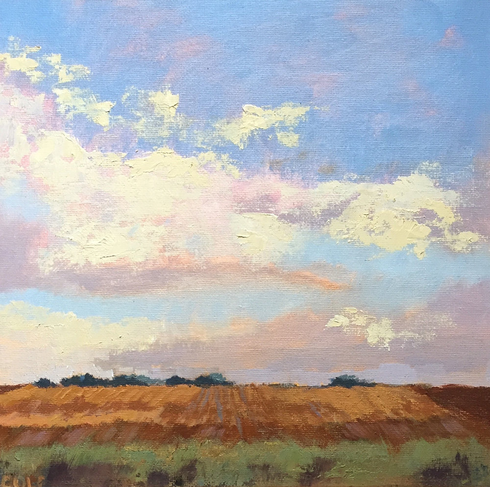 Prairie Sky © Beth Cole | 10 x 10 | Oil on Canvas Panel