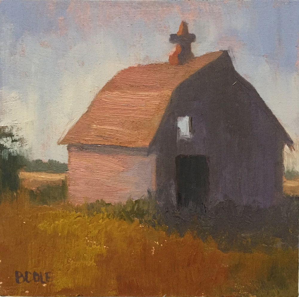 Barn No. 1 | © Beth Cole | 6 x 6 x 1.5 | Oil on Wood Panel