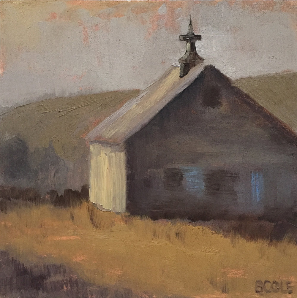 Barn No. 2 | © Beth Cole | 6 x 6 x 1.5 | Oil on Wood Panel